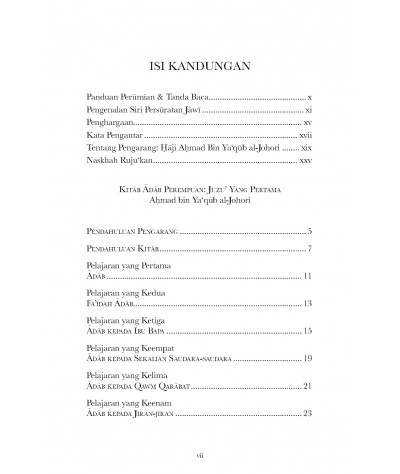 Kitab Adab Perempuan: Juzu yang Pertama