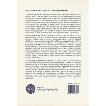 Monograf 6 - Sheikh Daud al-Fatani: His Life History and Works