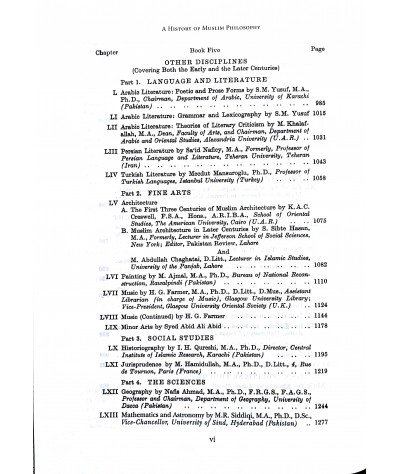 A History of Muslim Philosophy – 2 Volume Set