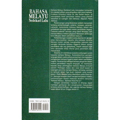 Bahasa Melayu Sedekad Lalu