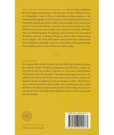 Etiquette Of The Learner: An Abridgement of Tadhkirat as-Sami' wa'l-Mutakallim fi Adab al-'Alim wa'l-Muta'allim